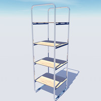 stylish office shelving unit 3d model