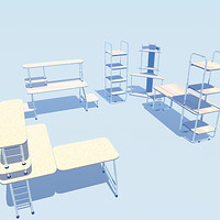 3d office furniture stylish model