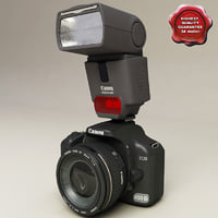 Canon EOS 450 D and Canon Speedlite