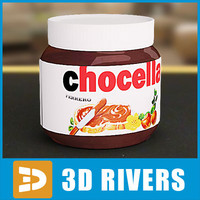 Chocolate Spread jar by 3DRivers