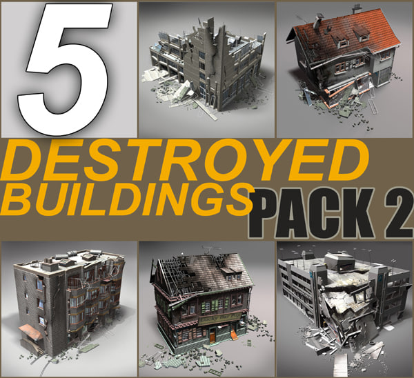 Damaged Building Collection - Pack 2 -