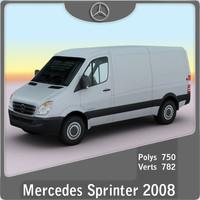 2008 mercedes sprinter 3d model