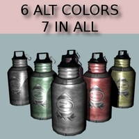 3d model steel water bottle