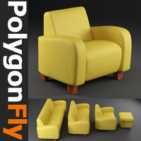 sofa couch seating 3d model
