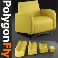 sofa set 13 3d model