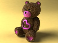 teddy fur 3d 3ds