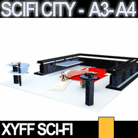 Xyff SciFi City A3 and A4
