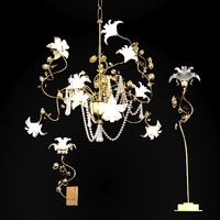 Baga classic rococo  floral crystal chandelier wall table lamp sconce 1170 1171 1173
