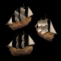 Sail Ship Carrack (Medieval)