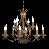 classic antique classical  rustic iron chandelier BLITZ