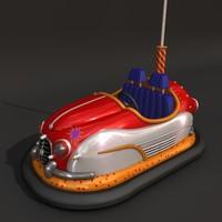 bumper car 3d model