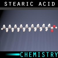 3d model molecule stearic acid