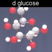 molecule glucose 3d model