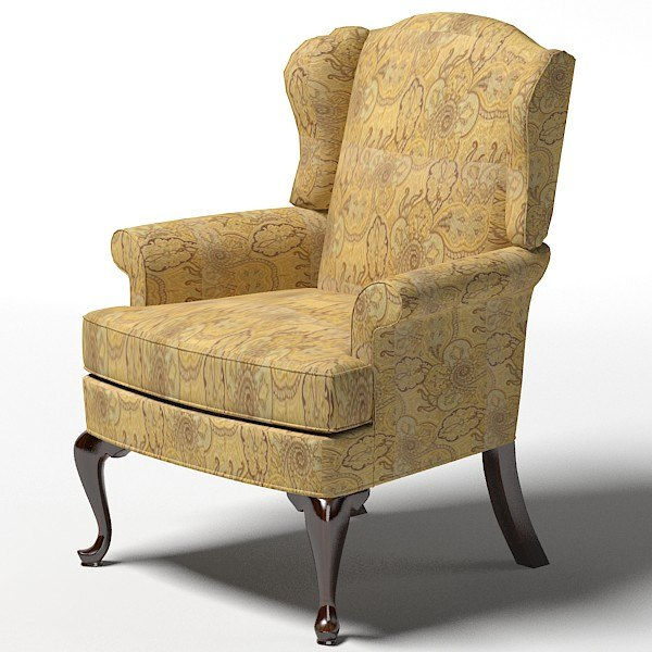 drexel upholstery randolph traditional wing chair armchair colonial style 18 century.jpg