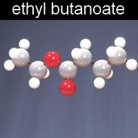 3ds max molecule ethyl butanoate