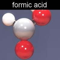 3d model of molecule formic acid