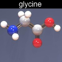 molecule glycine 3d model