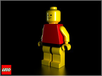 modeled lego figure 3d model