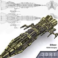 3DRT-Sci-Fi Norad Battleship-03-Ethev