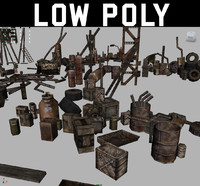 Low Poly Post Apocalyptic Junk