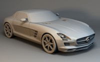 mercedes sls car 3d model