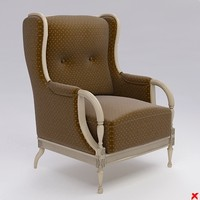 3d armchair old fashioned model