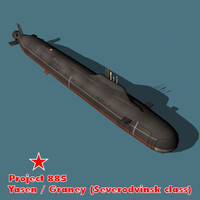 Russian (Soviet) YASEN Class Submarine
