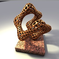 bronze sculpture 3d model