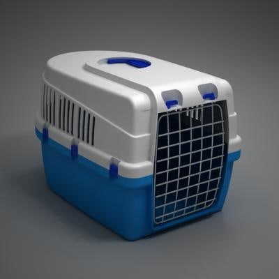 pet box transport 3d model - pet transport box... by German Lagna