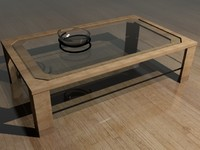 Glass Table with Glass Bowl