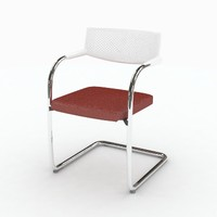 3d model vitra visavis chair