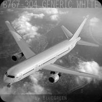 767-304 Generic White