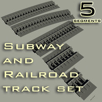 maya subway railroad track set