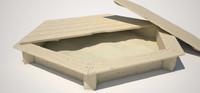 3d model sand box sandbox