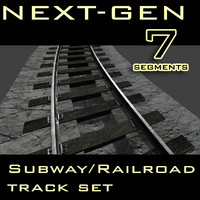 3ds max subway railroad track next-gen