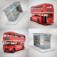 bus stop routemaster 3d model