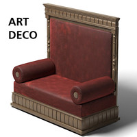 art deco backed 3d model