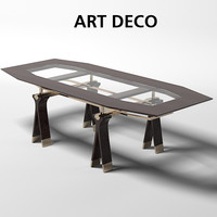 art deco oak design work meeting dining table office sc 1013