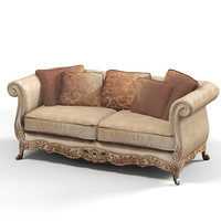 classic baroque sofa 3d model
