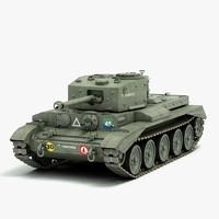 3d british cromwell tank