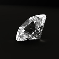 brilliant cut diamond 3d model