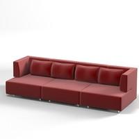 edra modern sofa 3ds