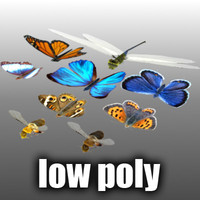 Low Poly Animated Flying Insects