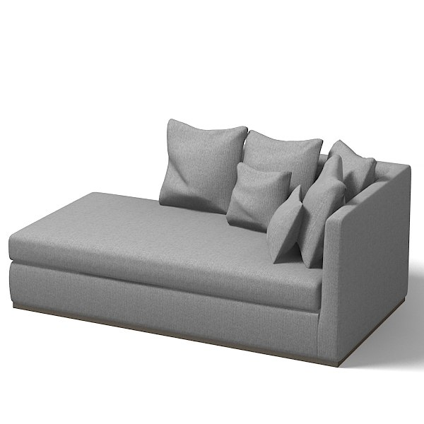 Modern chaise lounge sofa flexform sofa modern 3d 3ds for Chaise contemporary
