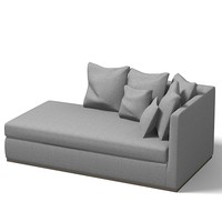flexform sofa modern contemporary chaise lounge