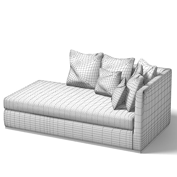 Contemporary Chaise Lounge Sofa: Flexform Sofa Modern 3d 3ds