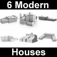 3d model of modern houses