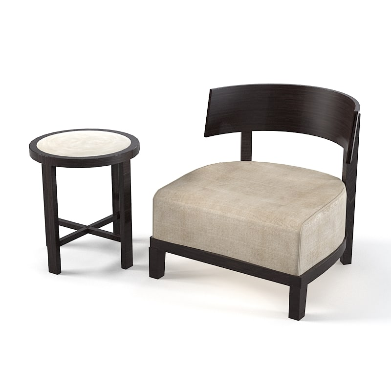 new poliform low chair small wooden back round side table0001.jpg