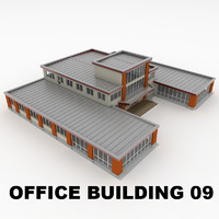 3d model of office building 09