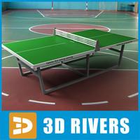 3dsmax ping pong table